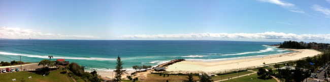 Apartment Balcony View in Coolangatta