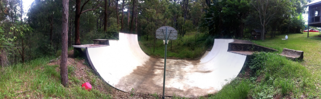 Incredible Concrete Vert Ramp in the hills of Queensland